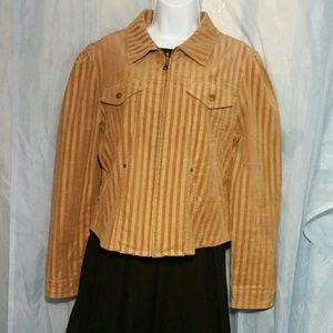 Sao Paulo Brown Striped Corduroy Jacket Size 10